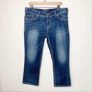 Silver Jeans Suki Capri Cropped Jeans 34